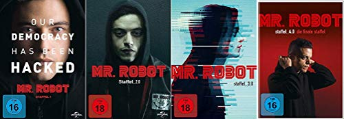 Mr. Robot - Staffel 1+2+3+4 im Set - Deutsche Originalware [14 DVDs]
