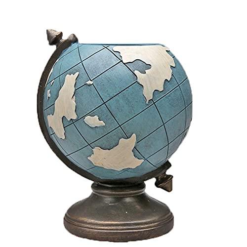 aipipl Artesanía Forma de Globo Titular de la Pluma Oficina Creativa de joyería Europea Adornos Adornos Personalizados Mesa Retro Regalo 11X14X10.5cm Elegante y Hermoso