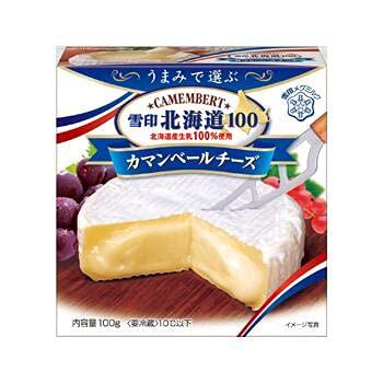 雪印 北海道100 カマンベールチーズ 100g x30個セット (冷蔵)