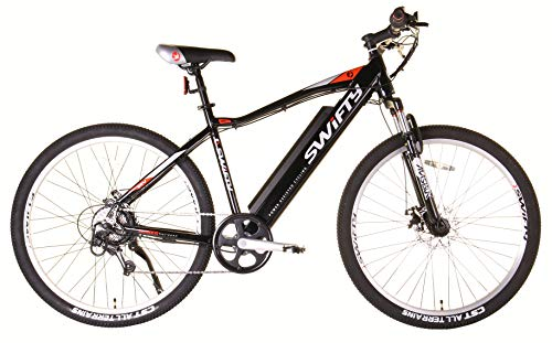 Swifty Electric Mountain Bike with Semi-Integrated Battery, Black