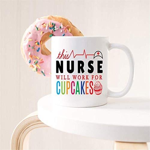 N\A Taza Divertida de la Enfermera: Esta Enfermera funcionará para Cupcakes