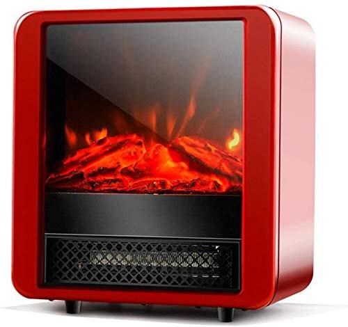 KAUTO Estufa 3D Calentador Independiente Efecto de Llama dinámico 3D con protección contra sobrecalentamiento Fusible térmico 2 configuraciones de calefacción 900-1800W