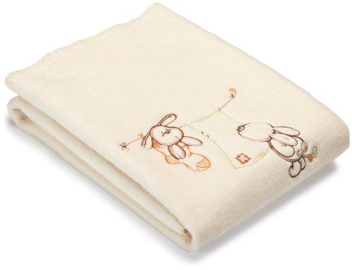 Julius Zöllner 9670010330 – Organic Lapin couverture avec motif, env. 75 x 100 cm