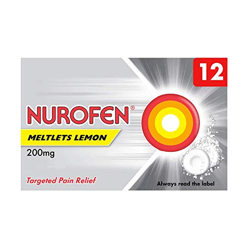 Nurofen Meltlets Lemon Ibuprofen, 200 mg, Pack of 12