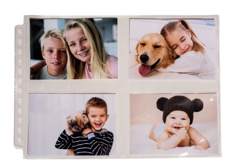 Ultra Pro 12-Hole Horizontal Page for 3.5 by 5-Inch Prints, 25-Pack
