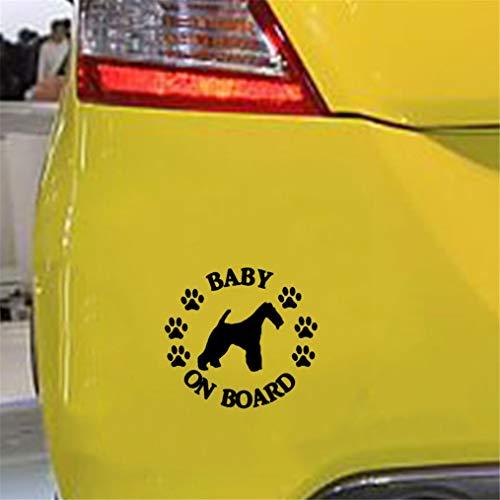 Beb/é a bordo tri/ángulo para coche Catal/án CATAL/À Ni/ña y perro a bordo