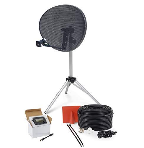 SSL Satellites Zone 2 Quad Satellite Signal Finder Twin 5 Meter Black Cable FTA LNB Signal Pointer...