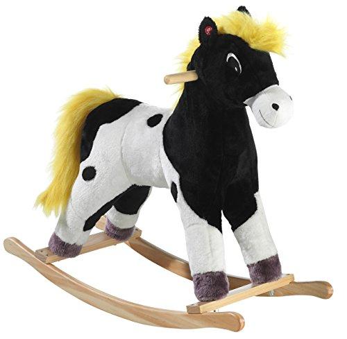 Yakari 737075–Cavallo a Dondolo, Donner, Piccolo, Nero/Bianco