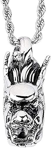 NC96 Encanto versátil Personalidad de la Moda Simple clásico Retro Punk Grifo de Acero Inoxidable Hombres Colgante Collar