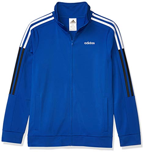 adidas Boys' Big Tricot Active Track Warm-Up Jacket, New Core Team Royal Blue, Large