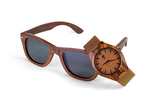 Men's Wood Watch, Natural Bamboo and...