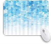 KAPANOU マウスパッド、ブルーホワイトトライアングル落書き おしゃれ 耐久性が良い 滑り止めゴム底 ゲーミングなど適用 マウス 用ノートブックコンピュータマウスマット