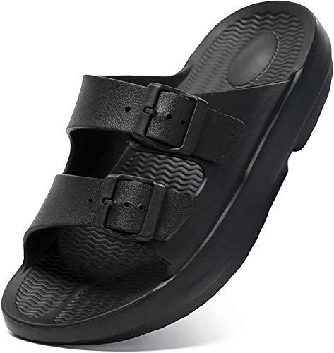 Unisex Arch Support Comfort Sandals Adjustable Double Buckle EVA Flat Slides for...