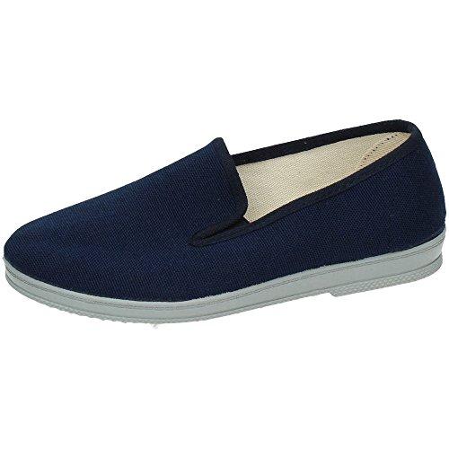 MADE IN SPAIN 650 Zapatilla Lona Lisa Hombre Zapatillas Azul 39