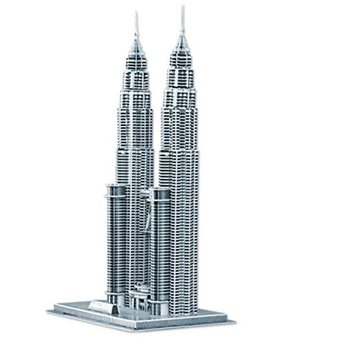 Rompecabezas tridimensional en 3D serie de construcción de rompecabezas rompecabezas para niños empalme adornos decoración regalos-Torres Petronas