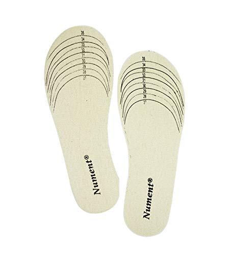 Nument Shoes Insoles for Kids Children Cotton Canvas Shoes Insole Double-Sided Cutting for Spring Autumn Winter Free Cut 1 Pair
