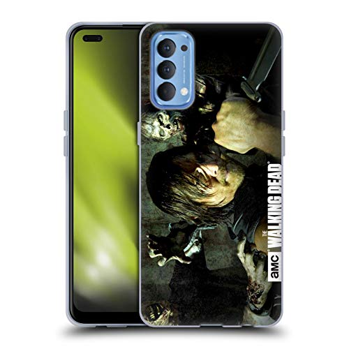 Head Case Designs Officially Licensed AMC The Walking Dead Daryl Knife Walkers and Characters Soft Gel Case Compatible with Oppo Reno 4 5G