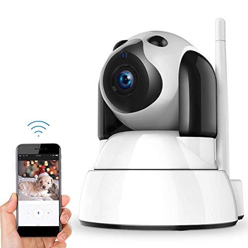NIOKE Wireless WiFi Cámara IP 720P HD de vigilancia Seguridad Baby Monitor Cámara con Dos vías de Voz, Infrarrojos de visión Nocturna, Pan Tilt, P2P IR-Cut WPS Nanny cámara detección de Movimien