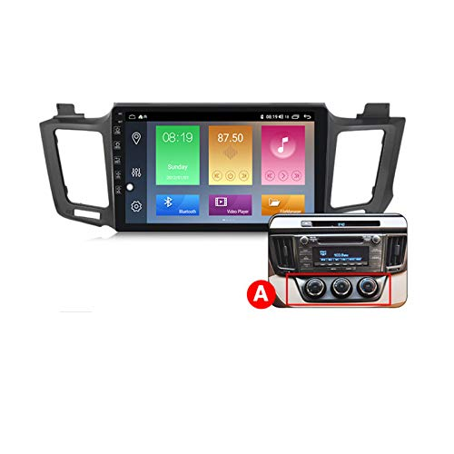 Android 10 Car Radio Player Navegación GPS para Toyota RAV4 2012-2018 con pantalla táctil 10 'Admite FM RDS DSP integrado Apple Carplay Stereo MP5 Player Android Auto Multimedia SWC,A px6,4+64G