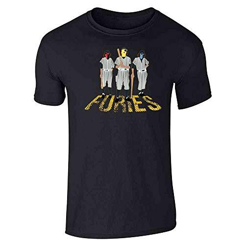 Pop Threads Baseball Furies Minimalist 70s Black XL Graphic Tee T-Shirt for Men