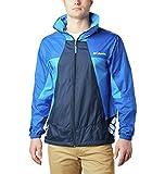 Columbia Men's Point Park Windbreaker Jacket, Collegiate Navy/Azul/Azure Blue, Medium