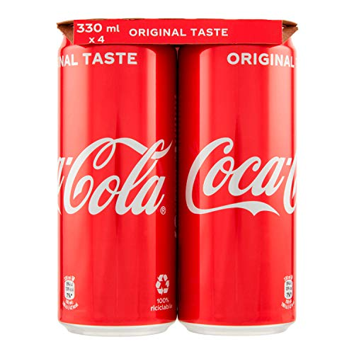 Coca-Cola Original Taste - Lattine, pacco da 4 x 330 ml
