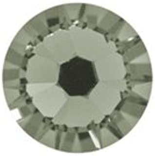 Swarovski Elements 2028 Hotfix Flatbacks SS10 Black Diamond 10 gross (1440) HF Rhinestones Factory Pack