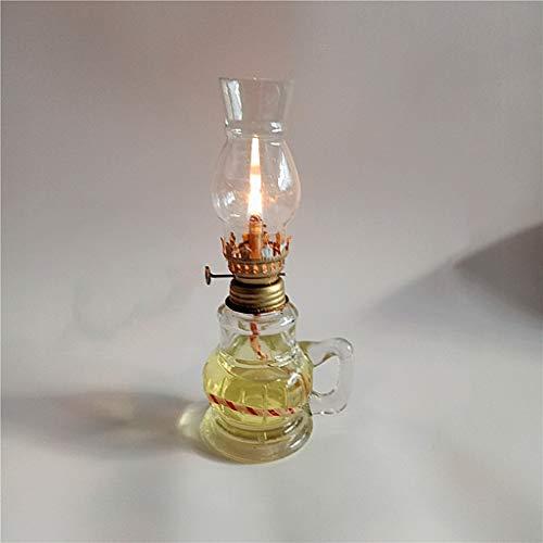 GCMJ Candil Antiguo,Farolillos Decorativos Candil Camping Interruptor Decoración Vintage Lamparillas De Noche (Color : Clear)