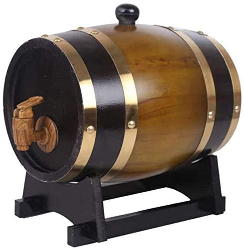 Barril de Madera, Barril de roble, barril de vino de roble, barril de madera, barril de whisky de barril, decoración del hogar decoración barril 5 litros vino, cerveza, sidra, whisky ( Color : Brown )