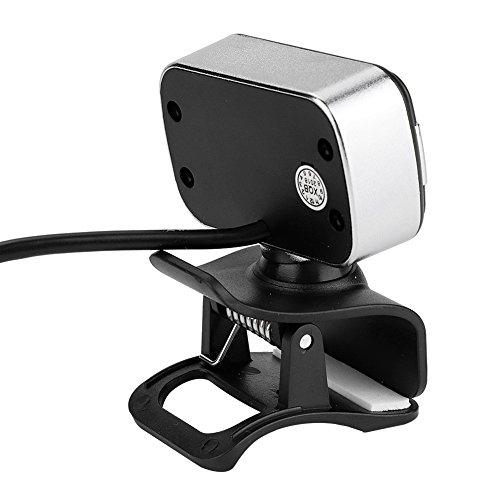 Richer-R HD Webcam, 1080P HD USB PC Webcam LED Nachtsicht Web Cam,Horizontal 360 ° Drehen USB 2.0 Webkamera mit Eingebautes Mikrofon für Videotelefonie MSN/Yahoo/Skype/ICQ usw.