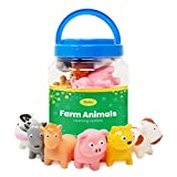 Boley 12 Piece Farm Animal Bath Bucket - Farm Animal Toy Bucket Features Cow, Chicken, Pig and More! - Perfect for Party Gifts, Educational Toy Sets, Or Bath Toys for Children and Toddlers