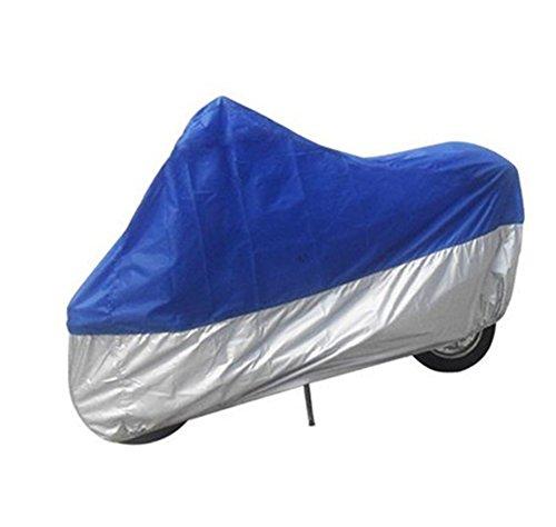 Chytaii Housse de Protection Couverture de Moto Pliable Imperméable Protection Contre Soleil/Pluie/Neige Bleu et Gris