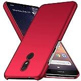 TenYll Hülle für Nokia 3.2, [Ultra Slim] PC Schutzhülle Stoßfest,Cover Etui leichte Handy-Tasche Handyhülle Schutzhülle für Nokia 3.2 -Rot