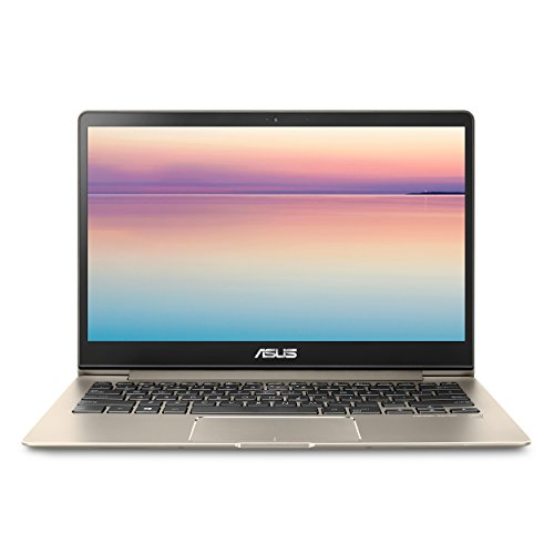 "Product Image 4: , ASUS ZenBook 13 UX331UA Ultra-Slim Laptop,13.3"" Full HD WideView display, 8th gen Intel Core i7-8550U Processor, 8GB LPDDR3, 256GB SSD, Windows 10, Backlit keyboard, Fingerprint, Icicle Gold"