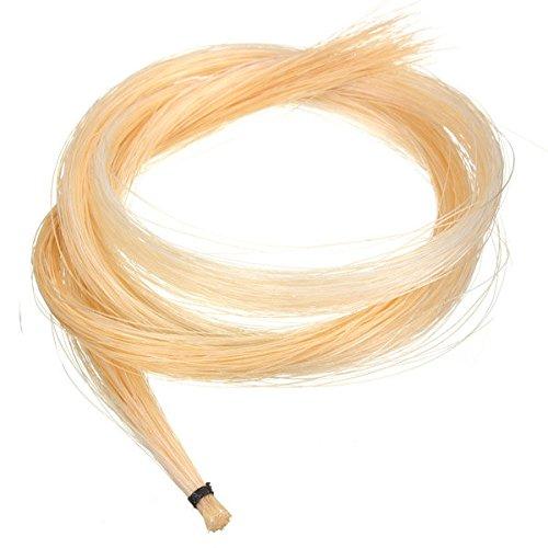Paleo 1 matassa bianco mongolo violino / viola capelli arco crine 32 pollici