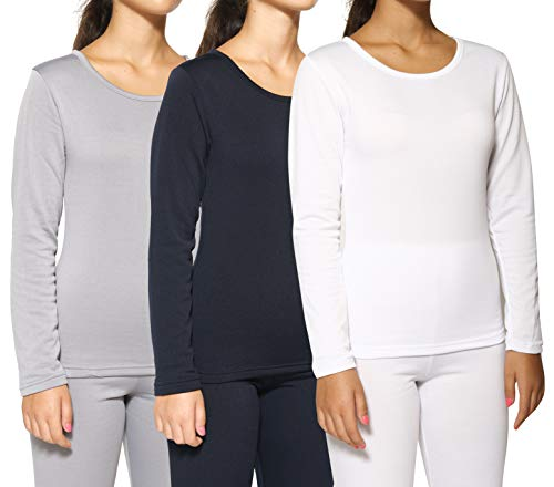 TOPS COUTURE Kosher Modest Crew Neck Long Sleeve Semi Sheer Second Skin Seamless Top
