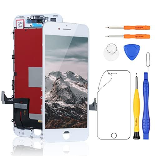 Yodoit Display per iPhone 7 Schermo di Ricambio LCD Bianco 4,7 Pollici, Vetro Schermo Parti di Ricambio + Set Cacciaviti