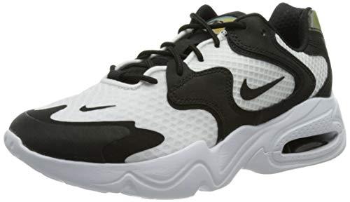 Nike Wmns Air MAX 2X, Zapatillas para Correr Mujer, White Black White, 36 EU