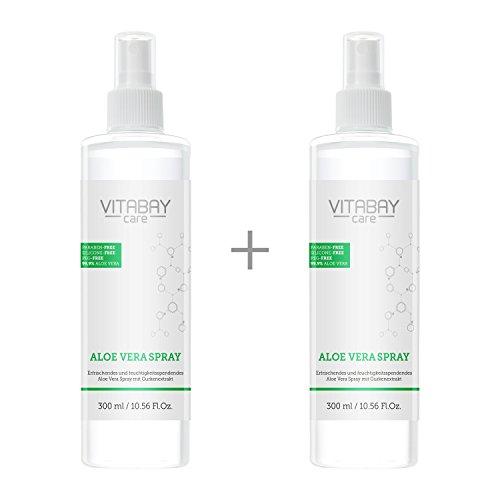 Aloe Vera Spray für Körper & Haar extrastark 600 ml - 99,9% Aloe Vera aus k.b.A + Hyaluronsäure