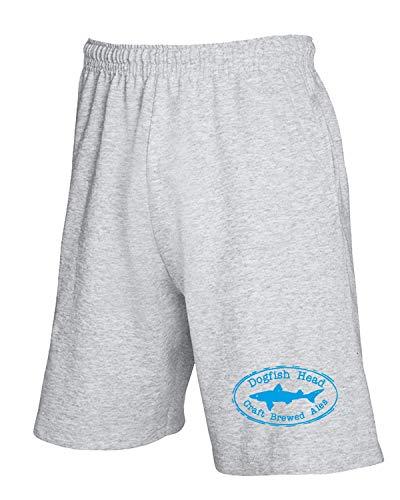 T-Shirtshock Jogginghose Shorts Grau FUN1247 DOGFISH Head OVAL 69796