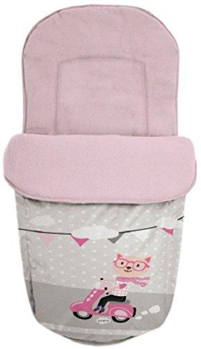 Baby Star 25504 zitzak universeel, roze/grijs