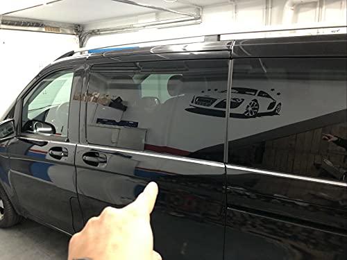 Mercedes Vito W447 2014+ Doppelschiebetür 8-teilige Chrom-Fensterbänke Edelstahl-Streifenabdeckungen - mittlerer Radstand L1-L2