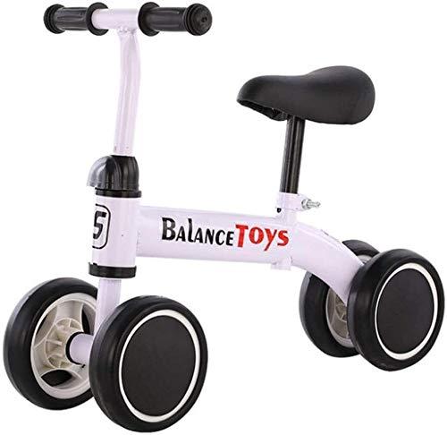CHENXU Bicicleta para Niños y Niñas Bebé Bike Balance Niños - Niño Cubierta al Aire Libre Paseo en Bicicleta, niños Bici del Empuje, Bicicletas for Niños de 1-4 años de Edad, Blanca