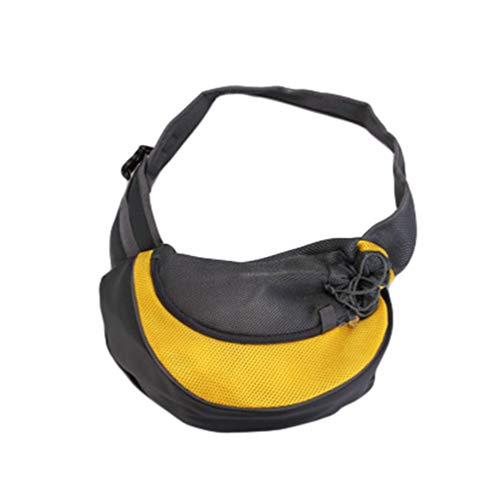 Kairunn Haustier Tragetaschen für Kleine Hunde und Katzen weich Tragetasche Sling Schulter Bag Hundetragetasche Schultertasche Gelb