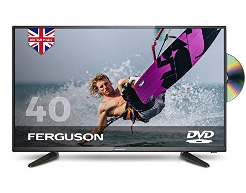 """Ferguson 40"""" Full HD LED TV with DVD and Freeview T2 HD,Black"""