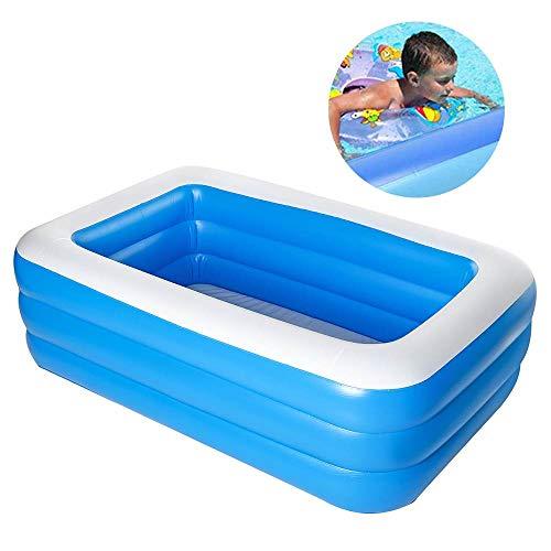CZYSKY Piscina Inflable, bañera de baño para Adultos y niños, Piscina Cubierta para Uso doméstico en el Exterior, Piscina de 180x142x60 cm