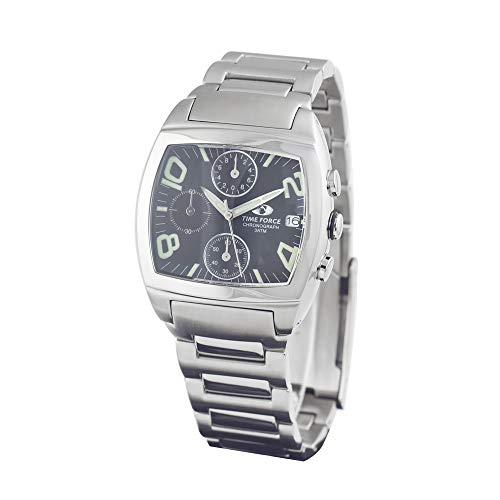 Time Force Reloj Cronógrafo para Hombre de Cuarzo con Correa en Acero Inoxidable TF2589M-01M