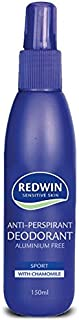Redwin Sensitive Skin Pump Deodorant with Aluminium Free, 150 mL
