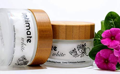 Intimate White Crema Schiarente naturale per Parti Intime - Sbiancamento Intimo - adatto per gomiti, ginocchia, ascelle, glutei, genitali, capezzoli. NUOVA FORMULA e NUOVA CONFEZIONE