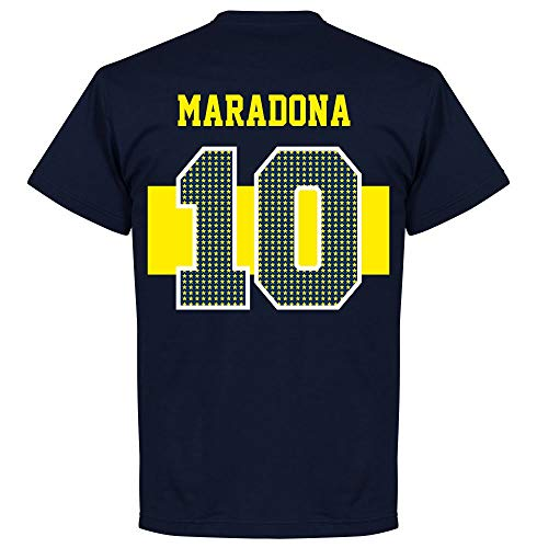Boca Maradona 10 Stars T-Shirt - Navy - L